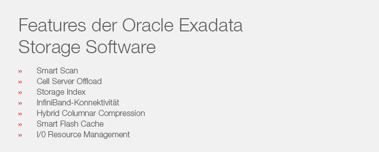 Software Features Oracle Exadata